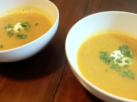 Roasted Pear and Squash Curry Soup