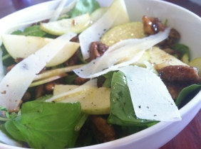 Arugula, Manchego, Apple & Caramelized Walnut Salad