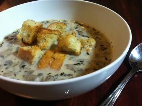 Mushroom Soup & Croutons 2