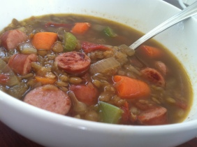 Lentil Soup with Smoked Sausage