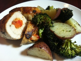 Red Pepper-Stuffed Chicken