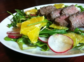 Steak & Arugula Salad with Citrus