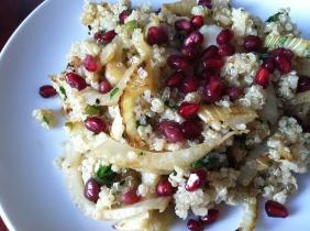 Quinoa with Fennel & Pomegranate