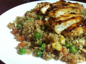 Quinoa Fried Rice & Teriyaki Chicken
