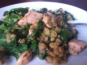 Salmon w Lentils & Spinach