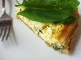 Simple Quiche with Sorrel